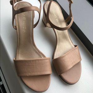 Stuart Weitzman Block Heel Sandal, Size 8M
